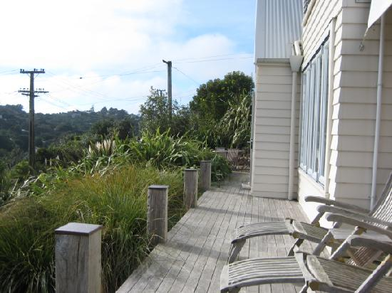 The Boatshed: The front deck