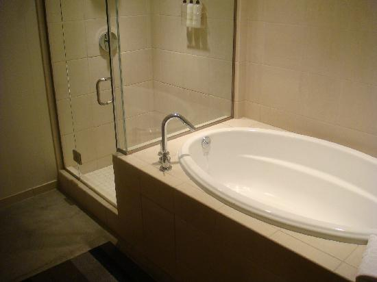 hotelVetro: studio suites & convention center: shower & bathtub