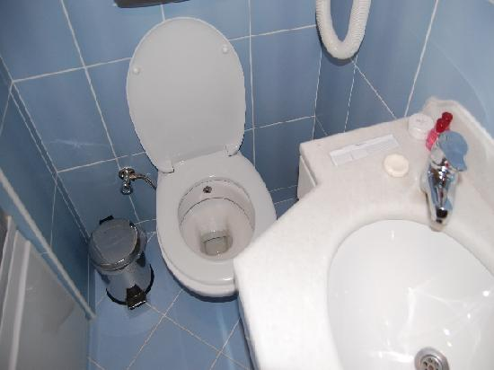 Grand Yavuz Hotel: El lavabo encima de la taza 10 cm escasos