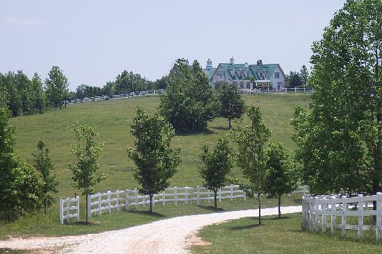 Landrum, SC: A road leading up to the inn.