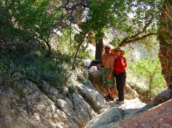 Mon Ami Bed and Breakfast: Some much-needed shade on the trail in Catalina State Park!