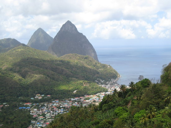Anse Cochon, Saint Lucia: Lunch View (The Beacon)