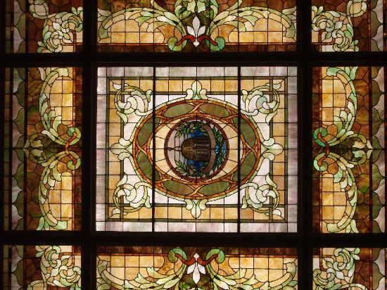 The Capital Hotel: capital stained glass