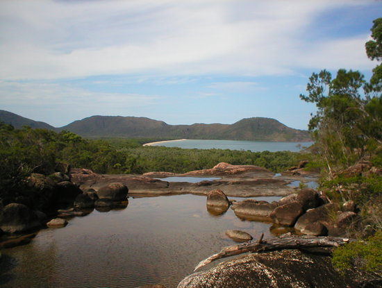 Hinchinbrook Island: view from top of zoe falls