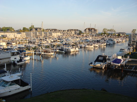 New Buffalo, MI: View of marina from room