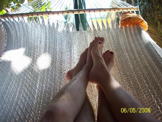 Sandals Royal Caribbean Resort and Private Island: Hanging out in the hammock!  So relaxing!