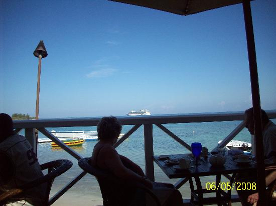 Sandals Royal Caribbean Resort and Private Island: View from the Regency!  Good for breakfast, lunch, or dinner!