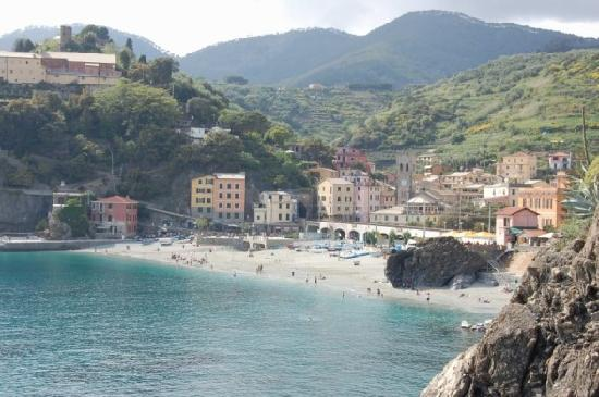 Old town Monterosso from hike to Vernazza (we liked the small beach ...