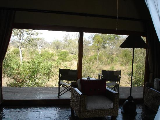 Royal Legend Safari Lodge & Spa: View to my deck from the room