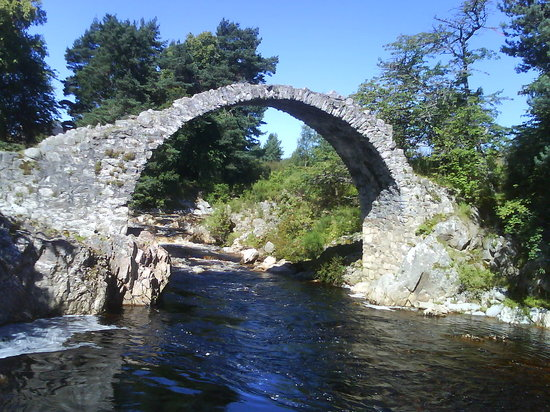 Kingussie, UK : pack horse bridge carrbridge near aviemore