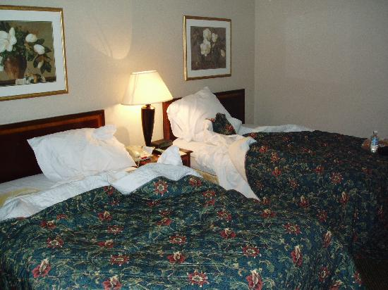 Best Western Culpeper Inn: Excuse the messy beds! They didn't look like this until we napped in them!