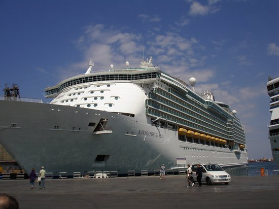 Palermo, Italy: cruise ship in harbor