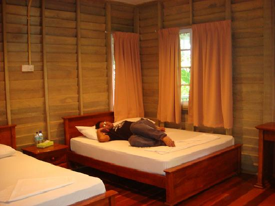Rawa Island Resort: My hubby in our hillside deluxe room