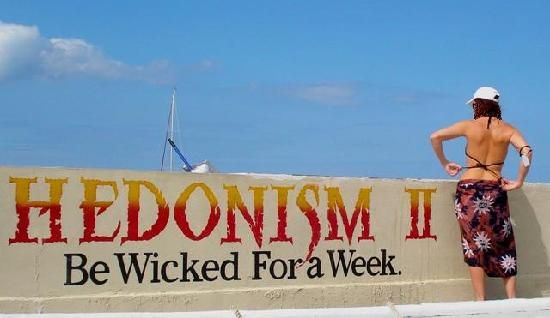 Hedonism II: Come to the Darkside! We DON'T have tanlines!