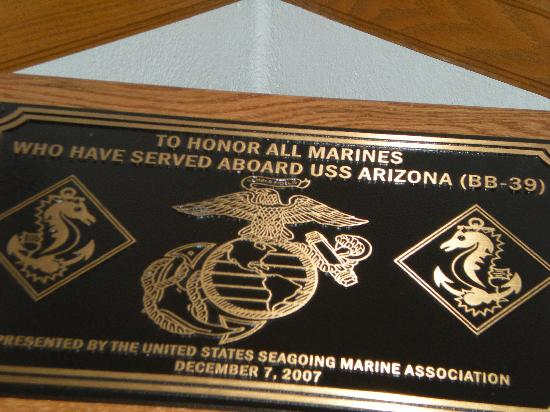 Arizona Capitol Museum: dedication for USS Arizona