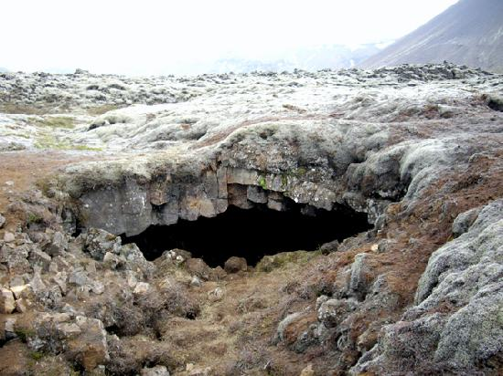 Guesthouse Galtafell: This is were the lava tube caving excursion takes you.
