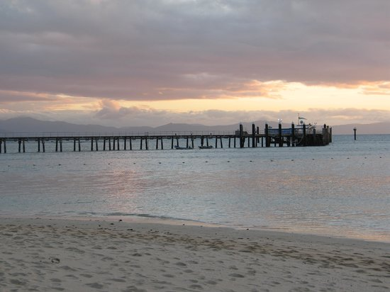 Green Island Resort: Sunset over the jetty from beach