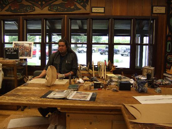 Sitka National Historic Park/Totem Park: Talented wood and metal artist