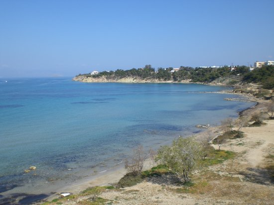 Agia Marina, Greece: Sandy beach near Aegina town