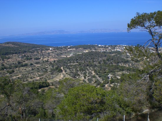 Agia Marina, Greece: Aegina Island from a hilltop