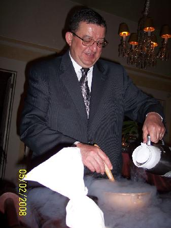 Madrona Manor Restaurant: Joseph Making Ice Cream Tableside