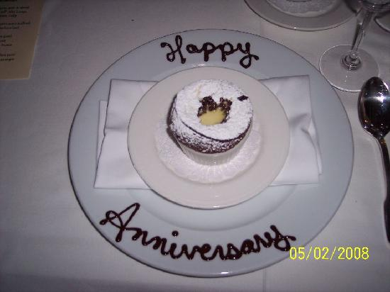 Madrona Manor Restaurant : Dessert customized for us