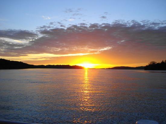 Isla de Coiba, Panama: Atardecer en Coiba