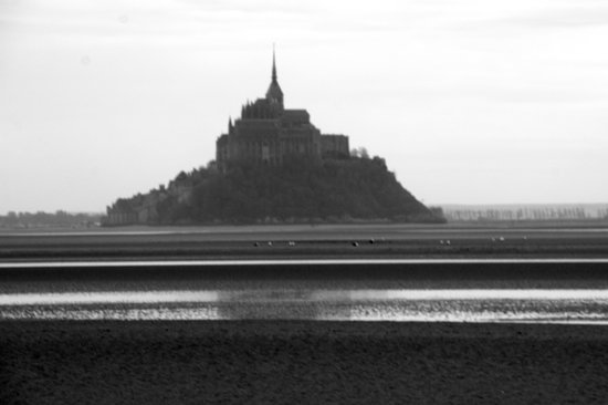 Pontorson, ฝรั่งเศส: The view on the Mont saint Michel