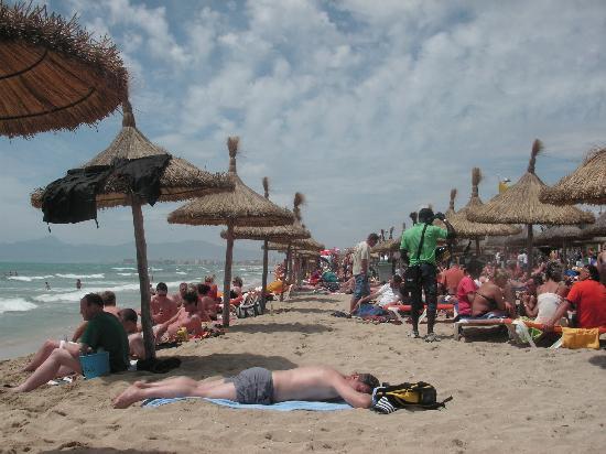 Hotel Riu Bravo: Beach in Playa de Palma