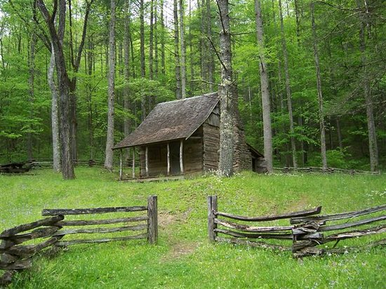 North Carolina Mountains, Carolina del Norte: Cabin owned by forest service