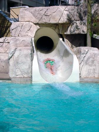Cancun Resort: High Velocity Exit on Cancun waterslide