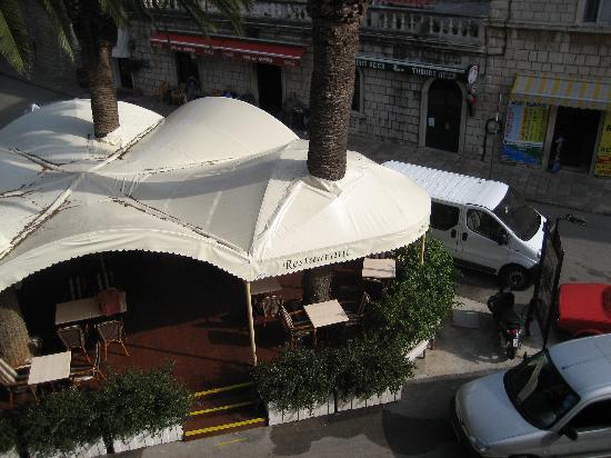 Villa Pattiera : View of the Dalmacija Restaurant on the lower level of the hotel.