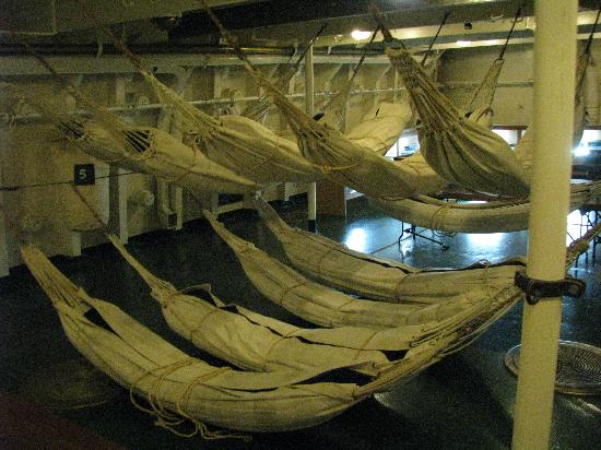 Floating Naval Museum Battleship Averof: Bedroom?? haha