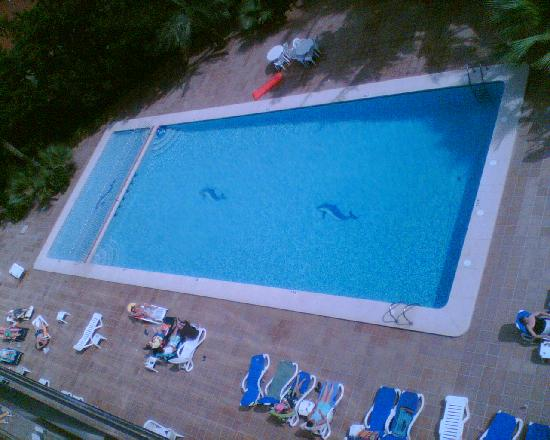 Hotel Perla: From balcony to Pool - our view