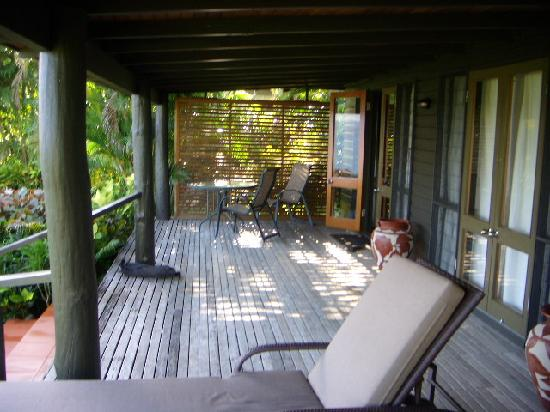 Taveuni Island Resort & Spa: This was our deck area!