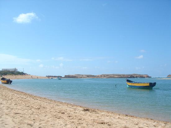 Oualidia, Maroc : La plage