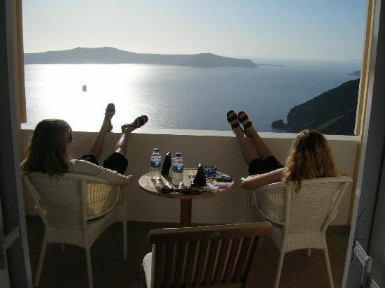 Belvedere Santorini: Our private balcony!  Serenity!