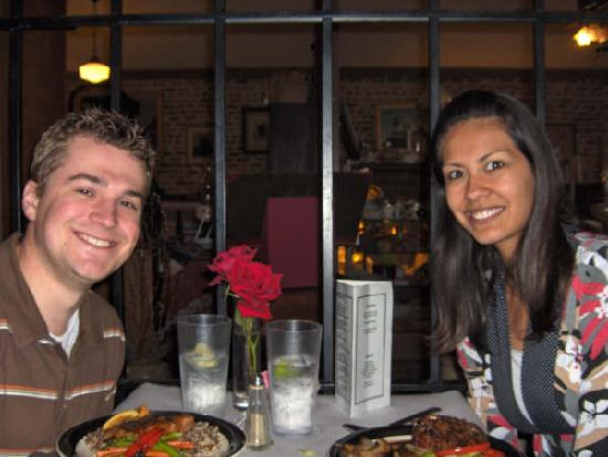 Katy House Bed and Breakfast: Eating at The Backdoor restaurant