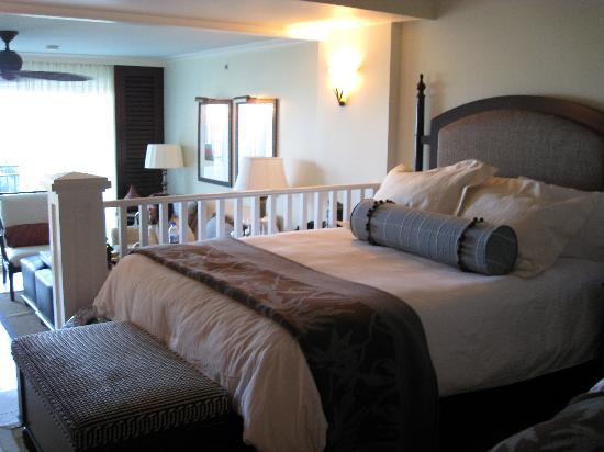 The hotel room, view of the sleeping area (we had 2 queen beds)