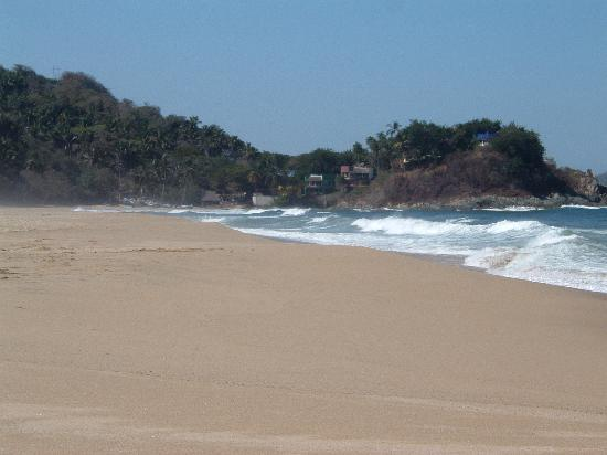 Roberto's Bungalows: beach at San Pancho