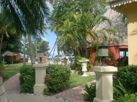 Sandals Grande Antigua Resort & Spa : jardin, hotel