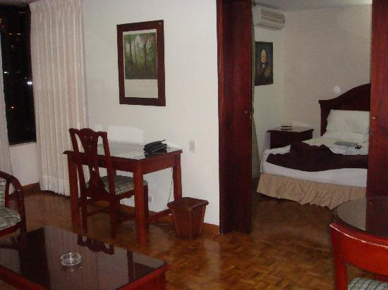 Aparta Suite Torre Poblado: View from entrance of Room, 9th floor