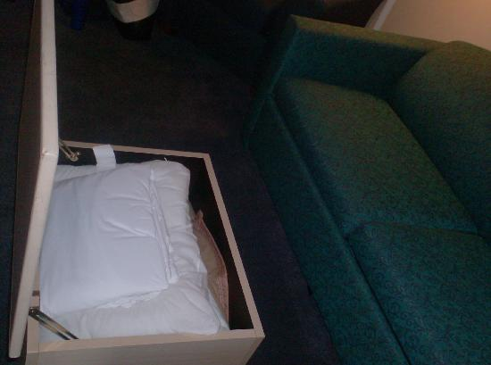 Quality Suites: Linen chest for pullout sofa
