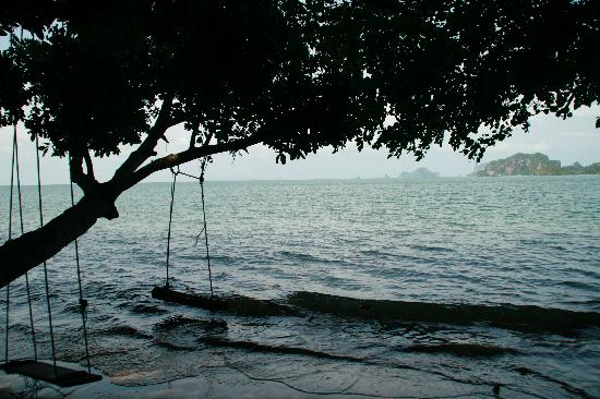 Dawn of Happiness: Beach-swings, Railay in Background