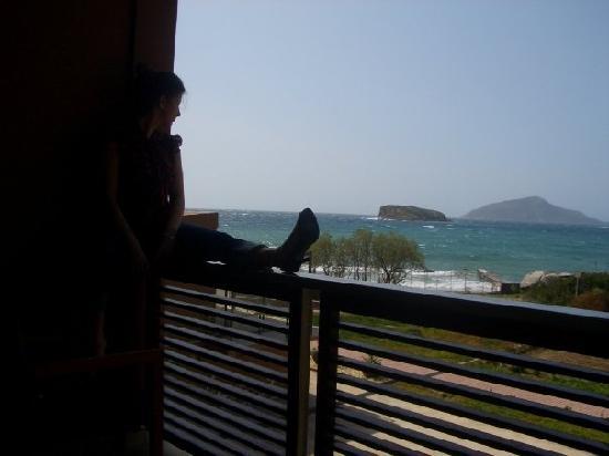 Aegeon Beach Hotel: me on my balcony room 212