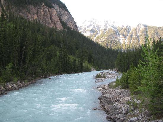 Cathedral Mountain Lodge: View from the bridge