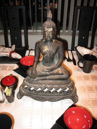 A TreeHouse Bed and Breakfast: Buddha on the breakfast table