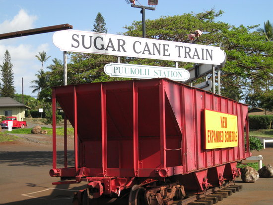 Lahaina, Hawái: The Sugar Cane Train Station