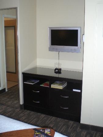 Best Western Plus Navigator Inn & Suites: Flat Screen TV in King Executive Bedroom