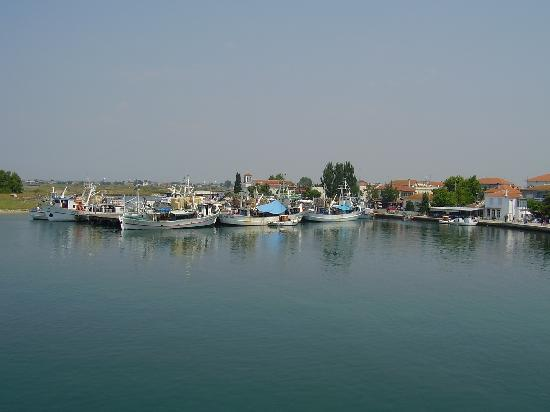 Maria Apartments: Thasos Town from the ferry